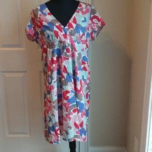 Boden multi color dress 10R